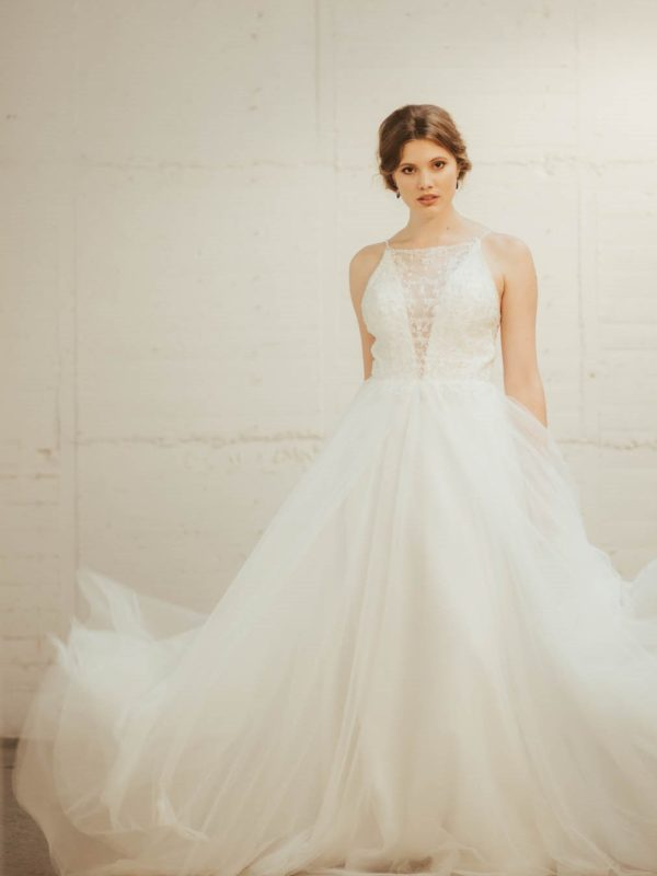 Aster Wedding Dress. A-line, beaded wedding dress NZ