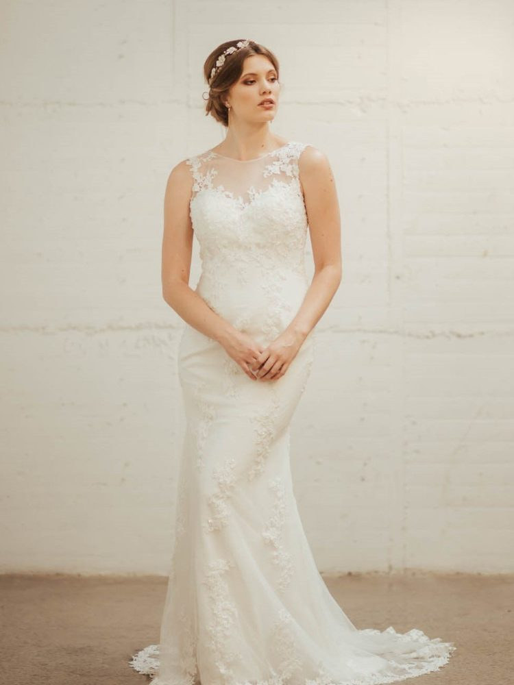Jessamine Wedding Dress - Lainee Hermsen Bridal NZ. Lace wedding gown