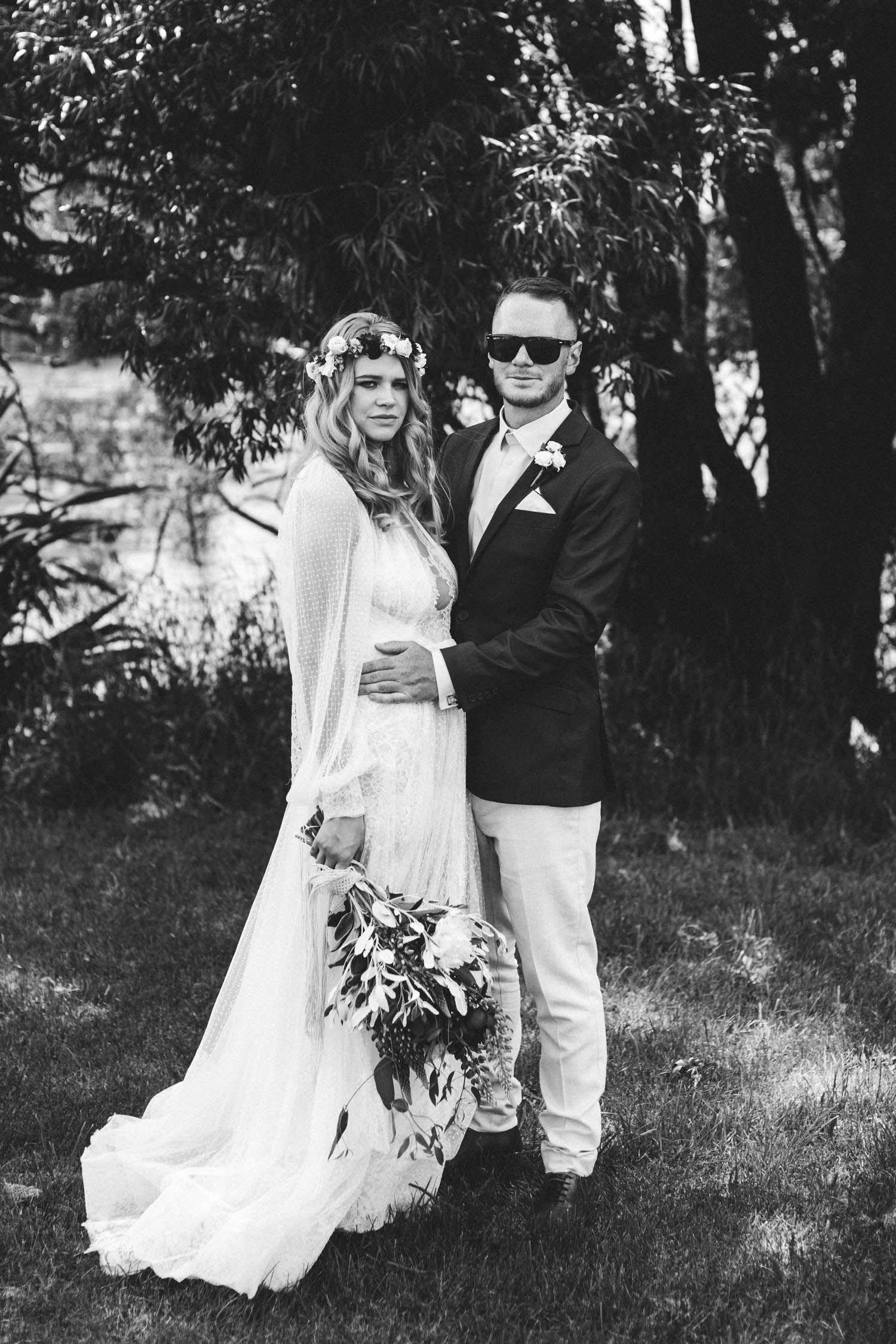 Meghan Gillespie wearing the Abedul Yolancris Wedding Dress